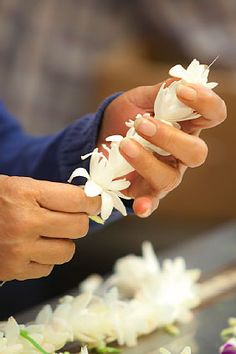 Lei making....so easy and special!