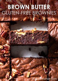Best Gluten Free Desserts, Gluten Free Baking, Healthy Dessert Recipes, Delicious Desserts, Cheesecake Brownie Bars, Dairy Free Cheesecake, Flourless Desserts, Gluten Free Brownies, Toasted Pecans
