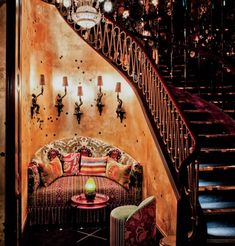 An intimate nook at Loulou's, London's ultra-exclusive nightspot.