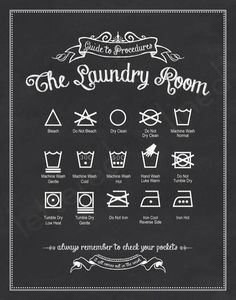 This is cute looking and actually really helpful since I ultimately put everything in the washing machine. Frame it for the laundry room.