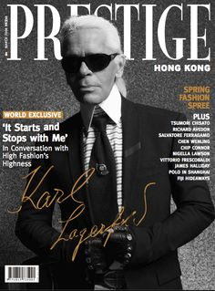 10 Things Karl Lagerfeld Could Do Without ~ Prestige Magazine...bizarre interview