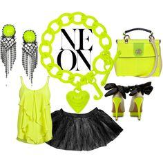 du jaune / vert flashy mais girly, non ? ouaiiis...