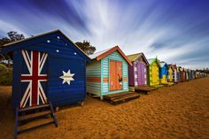 Brighton  Beach by L2Vision Lok on 500px - Famous colorful bathing boxes at Brighton Beach, Melbourne, Victoria