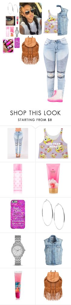 """Flower child 🌸🌷💕"" by laylakristion on Polyvore featuring Victoria's Secret, GUESS, FOSSIL, Frame, South Beach and Liquorish"