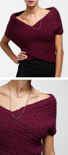 Cross my heart knit top