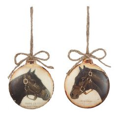 "Horse Christmas Ornament Balls - 4"" - #CowgirlChristmas"