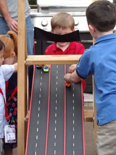 Race Cars Birthday Party Ideas | Photo 4 of 21 | Catch My Party. lego ramp. 3 year old birthday party.