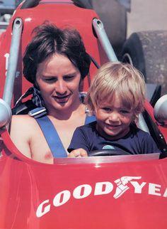 Gilles Villeneuve with his son Jaques