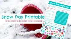 Snow Day Activity Sheet { FREE } . Activities for Kids: Adventures In Learning . PBS Parents | PBS