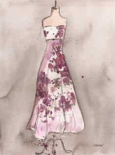 [ Vintage Romance Dress ] by Lauren Maurer    #fashion