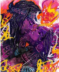 Want more? Follow @RyiahHeartz for more💕 Black Couple Art, Black Love Art, Black Girl Art, African American Art, African Art, Black Artwork, Afro Art, Dope Art, Tantra