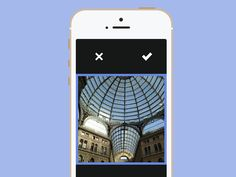Select the photos directly from the Camera Roll with a swipe to the left and Crop function...Simmple!!  Here you can test the app before the official launch. Sign Up  http://simmplecam.com