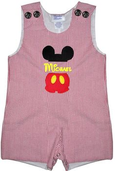 Custom Mickey Mouse Split Suit Monogrammed by ChildrensCottage, $52.00