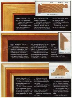 Making Picture Frame Moldings Woodworking Plans And Projects