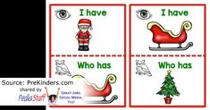 "Seasonal Activity of the Week: Christmas ""I Have, Who Has"" Game - pinned by @PediaStaff – Please Visit  ht.ly/63sNt for all our pediatric therapy pins"