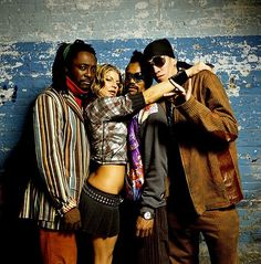 The Black Eyed Peas-love love love their music, so different and creative (unless it's played on the radio 24/7 like boom boom pow...)
