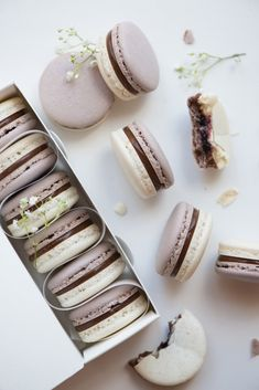 Earl Grey Cassis Macarons with Earl Grey Ganache  Cassis Confiture | Now, Forager | Teresa Floyd Photography