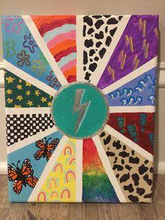 Cute Canvas Paintings, Easy Canvas Art, Small Canvas Art, Mini Canvas Art, Acrylic Painting Canvas, Dibujos Zentangle Art, Ideias Diy, Aesthetic Painting, Bullet Journal Art