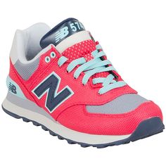 New Balance Women's 574 Winter Harbor Low-Top Sneaker ($80) ❤ liked on Polyvore featuring shoes, sneakers, red, new balance, lace up shoes, lace up sneakers, new balance shoes and low profile sneakers