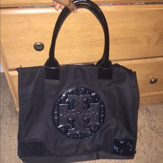 Tory Burch Nylon Ella Large Tote This is the large bag, all black Tory Burch Bags Totes