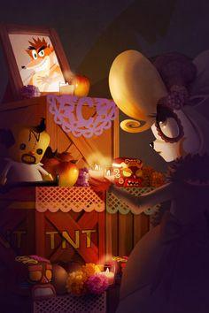 ArtStation - Crash Bandicoot altar, Renee Chio