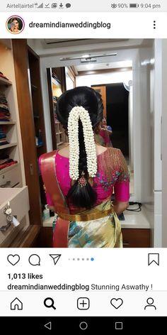 Half Saree Designs, Silk Saree Blouse Designs, Fancy Blouse Designs, Bridal Blouse Designs, South Indian Wedding Hairstyles, Bridal Hairstyle Indian Wedding, Bridal Hairdo, Arabic Bridal Mehndi Designs, Saree Hairstyles