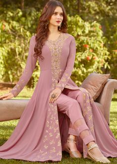 Mauve Purple Designer Embroidered Georgette Party Wear Anarkali Suit – Saira's Boutique Source by wear dresses Party Wear Indian Dresses, Indian Gowns Dresses, Indian Fashion Dresses, Dress Indian Style, Indian Designer Outfits, Pakistani Dresses, Indian Outfits, Designer Dresses, Fashion Outfits
