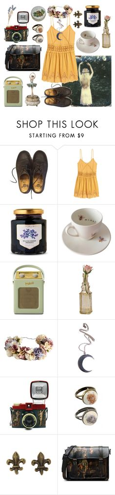 """""""Ballerina Dreams"""" by nayawhovian ❤ liked on Polyvore featuring Dr. Martens, H&M, Fortnum & Mason, Outlandish Creations, Roberts, Cultural Intrigue, eliurpi, Kill Star, Lomography and Rock 'N Rose"""