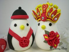 Chinese Wedding Cake Topper-  Custom Love Birds with clay base via Etsy