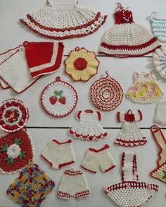 Love this red collection.  Not really needlework, but charming.