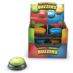 Learning Resources Lights and Sounds Buzzers, Set of 12 * You can get more details by clicking on the image. (This is an affiliate link) Learning Toys, Learning Resources, Preschool Learning, Teaching Ideas, V Smile, Kids Electronics, Class Activities, Mens Gift Sets, Green And Orange