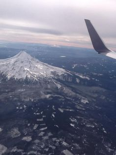 Plane views from my window seat - The majestic Mt. Hood