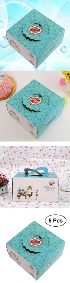 Bakery Boxes Cupcake Box Floral Pattern Cup Cake Boxes Cupcake Carrier