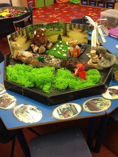 Small world The Gruffalo Gruffalo Eyfs, Gruffalo Activities, Gruffalo Party, Eyfs Activities, Nursery Activities, The Gruffalo, Preschool Activities, Tuff Spot, Reception Class