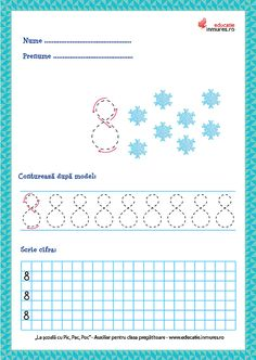 Fișe de lucru - Scrierea cifrelor și a numerelor Numbers Preschool, Preschool Learning Activities, Diagram, Teaching, Education, Math, How To Make, Ely, Gabriel