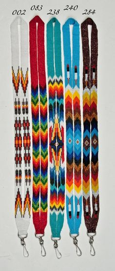 Czech Beaded Lanyards - 5 colors