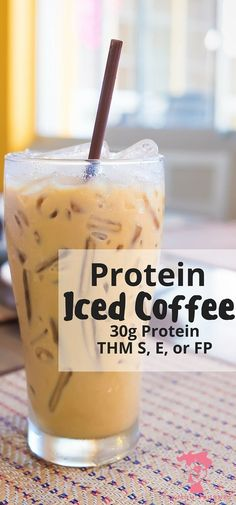 What could be better than a refreshing iced coffee that packs a 30g punch of protein + powerhouse collagen - without changing the taste? This Iced Protein Coffee is THM S, E, or FP or doesn't disappoint! - Keto, Trim Healthy Mama, Sugar Free Fit Mom Journey http://fitmomjourney.com/30g-coffee-protein-shake-thms-e-fb/