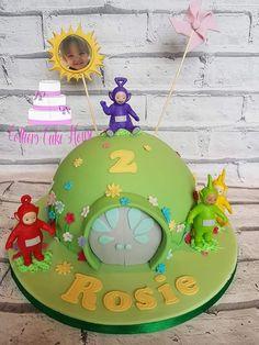 Boys First Birthday Cake, Second Birthday Ideas, 1st Birthday Cakes, Baby Birthday, First Birthday Parties, First Birthdays, Teletubbies Birthday Cake, Teletubbies Cake, Dumbo Cake