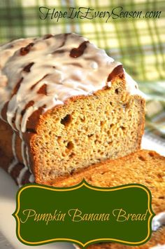 Hope In Every Season: Pumpkin Banana Bread for the Homemaking Party