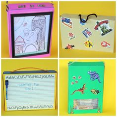4 cereal box craft kits - great way to organize activities for summer