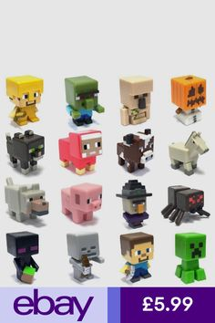 Minecraft Single Mini Figure Unlimited Chest Series 3 *Choose Your Favourite*, Minecraft Party, Minecraft Birthday Cake, Mine Minecraft, Minecraft Toys, Minecraft Cake, Minecraft Mini Figures, Minecraft Bedroom, Cool Toys, Kids