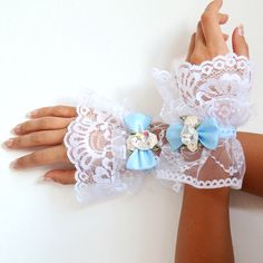 Alice in Wonderland Lace Cuffs