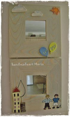 Mirror renovation with clay ,painting and wire