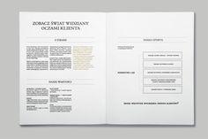 Corporate identity for a small marketing company.