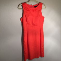 Banana Republic Bright Orange Dress Brand new without tags. Gorgeous and figure flattering dress. Zipper up the back and pockets on sides. Banana Republic Dresses