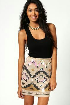 f741830bb8b5 Sequin Mini Skirts, Sequin Skirt, Cute Skirts, Material Girls, Latest  Fashion For