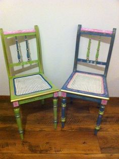 Bemalte Stühle shabby stühle pastell upcycling upcycling