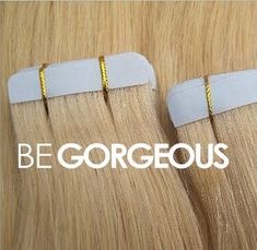 BE GORGEOUS Tape Hair Extensions the latest innovation in Hair Extensions! Available in a range of colors! Hair Extensions Before And After, Tape In Hair Extensions, Remy Human Hair, Innovation, Range, Colors, Instagram Posts, Gold, Jewelry