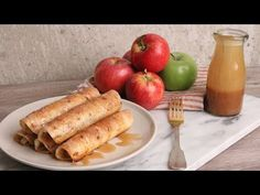 Apple Pie Taquitos Recipe - Laura in the Kitchen - Internet Cooking Show Starring Laura Vitale