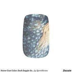 "CLICK ""MINX"" TO PURCHASE Horse Coat Color: Dark Dapple Gray II Minx® Nail Wraps"
